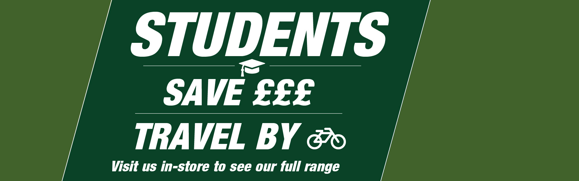 Students - Save £££, Travel By Bike