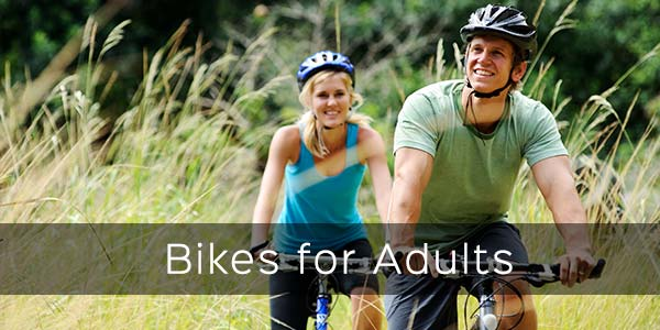 whole range of adult bikes